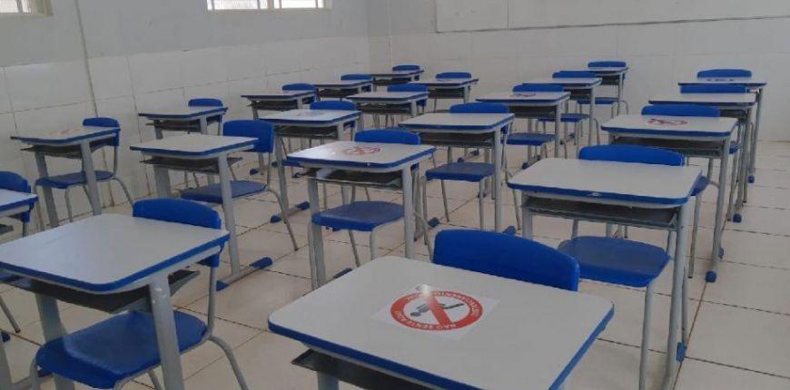 Governo mantém retomada das aulas na modalidade híbrida para o dia 3 de agosto (Crédito: Harleid Claiton - Secom/MT)
