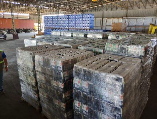 Sefaz apreende duas cargas irregulares de cervejas avaliadas em quase R$ 1 milhão (Crédito: Reprodução)