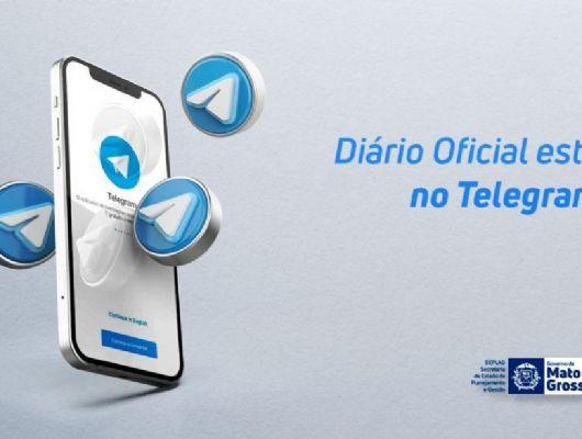 Diário Oficial agora pode ser acessado pelo aplicativo Telegram (Crédito: Arte: João Vaz)