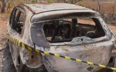 Mulher sequestrada é encontrada carbonizada dentro de carro em Mato Grosso