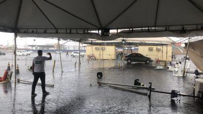Temporal estoura transformador e três polos de vacinação deixam de atender em Cuiabá