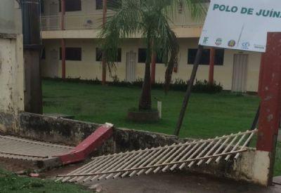 Temporal deixa rastro de destruição e moradores de cidade de Mato Grosso em pânico