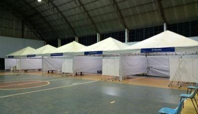 Espaço voltado ao atendimento à Covid-19 já atendeu 3 mil pessoas em Chapada dos Guimarães