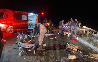 Cinco pessoas ficam gravemente feridas após colisão entre pick-ups próximo a Confresa