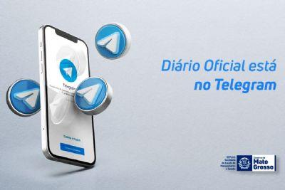 Diário Oficial agora pode ser acessado pelo aplicativo Telegram