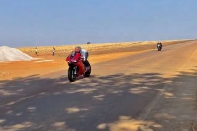 PM ''promete'' prender condutores que participam de rachas de motos na estrada de Chapada